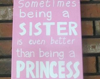 Sister Gift, Sister Quotes,Girls Room Decor, Girls Room Wall Art, Little Girls Room Decor, Kids Wall Art