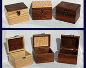 Hand crafted hardwood recipe boxes