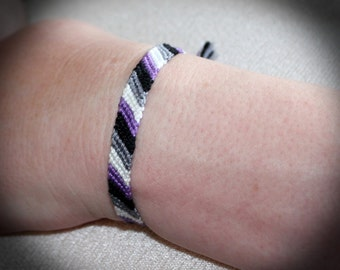 Asexual Demisexual Pride Flag Friendship Bracelet
