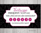 Thirty One Consultants Frequent Buyer Cards- Instant Download