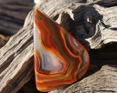 This stone is an Argentina Condor Agate Cabochon.   Brilliant Shine.  Pendant.  Great Banding.