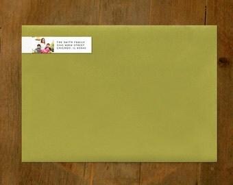 Custom Return Address Labels (wrap around) - self adhesive (sets of 50)