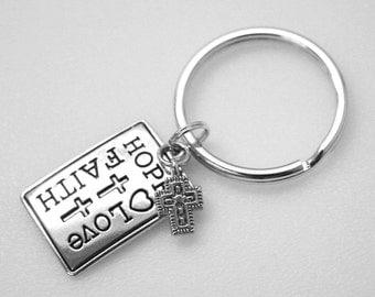 Key Ring - Hope Love Faith