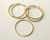 20 BRASS Soldered Closed 18mm JUMPRINGS - Large Closed 20 Gauge Brass Jump Ring Links - Wholesale Findings - Instant Ship from Usa - 5478