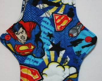 Kiki Mama Cloth Menstrual Pad Regular Size with Superman