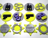 Law Enforcement - Personalized, Birthday, Graduation, Promotion, Retirement, Edible Fondant, Cupcake or Cookie Toppers