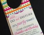 Birthday Hotel Door Hangers - Kids Birthday - Hotel Birthday Party Invitations - Parties for Kids