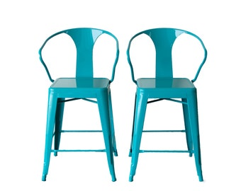 "Custom painted Arm Counter Stool in 26"" Counter Height Painted in the Color of Your Choice"