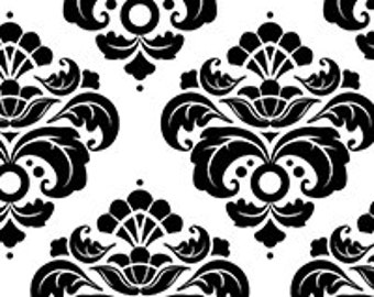 Black Damask Print tissue paper