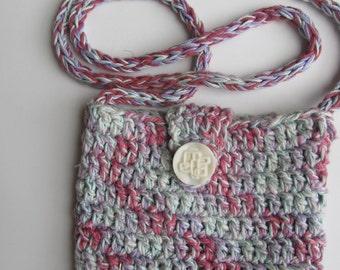 Hand Crocheted Cotton Purse