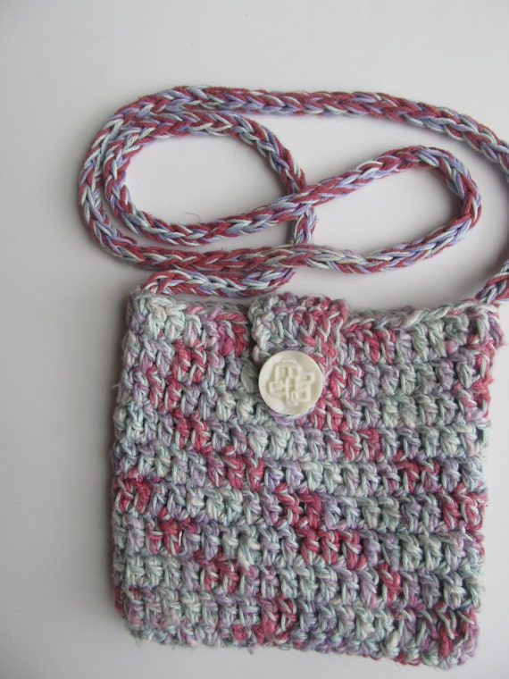 Hand Crocheted Cotton Purse