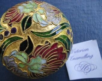Vintage Cloisonne Paperweight