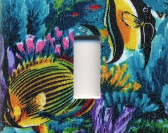 Tropical Fish Single Light Switch Plate