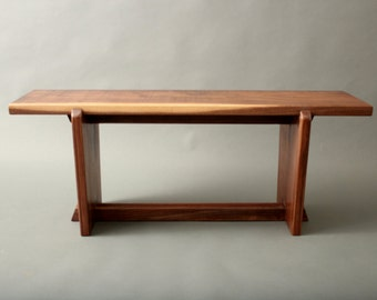 Walnut Bench Nakashima Mid Century Japanese Style For your Hallway Entryway Gallery Sofa Table Metropolitan Museum of Art