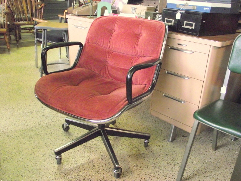 genuine pollock knoll office chair mid century executive task