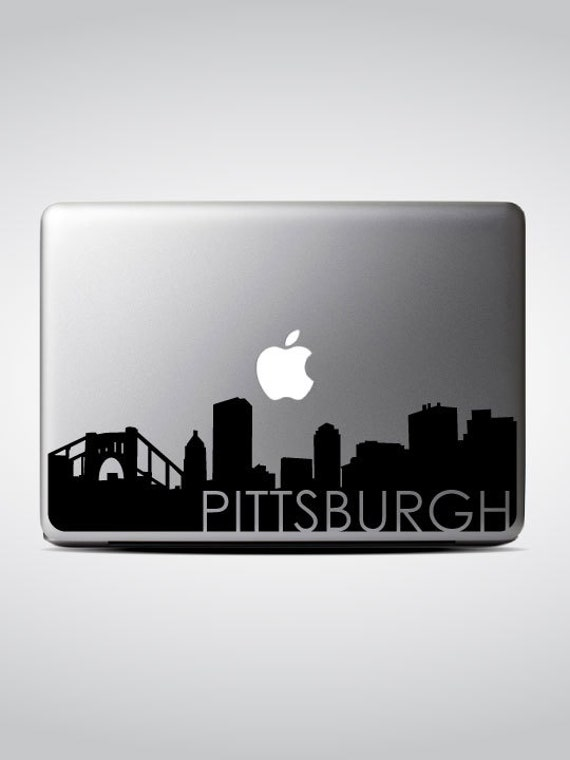 Pittsburgh Skyline Macbook Decal #3 / Macbook Sticker / Laptop Decal