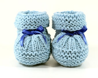 Knitting Pattern For Baby Tennis Shoes : Baby shoe pattern Etsy