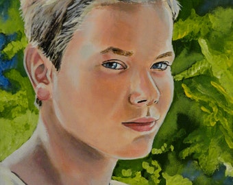"""Stand By Me - Chris - River Phoenix - Art Print Reproduction 10"""" x 12"""" - signed by Artist"""