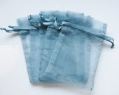 Set of 10 Smoke Blue (4x6) Organza Bags