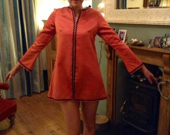 Vintage Space Age Tunic Dress