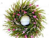 Spring Wreath-Spring Home Decor-PINK WILDFLOWER-Summer Twig Wreath-Country Home Decor-Gift For Mom-Front Door Wreath-Custom Made Gifts