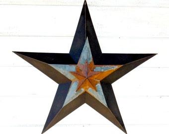 PRIMITVE BARN STAR- Patriotic Star-Rustic Wall Hanging-Rustic Star Decor-Primitive Home Decor-Holiday Door Decor-Military Decor-Star Decor