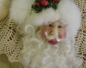 OOAK Hand sculpted Santa Ornament Father Christmas Victorian Santa
