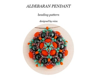 Aldebaran Pendant - Beading Pattern/Tutorial - PDF file for personal use only