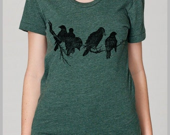 Birds on a Limb Women's T Shirt American Apparel S, M, L, XL 8 COLORS Nature Tee