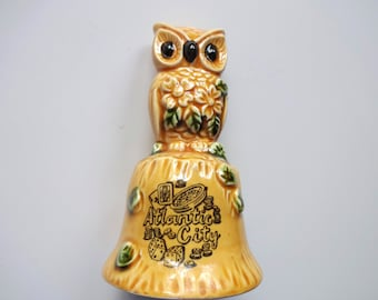 Vintage Owl Bell Souvenir from Atlantic City 1970s
