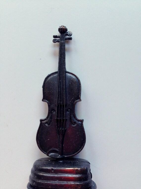 Vintage Die Cast Metal Violin Pencil Sharpener 1970s NIB ...