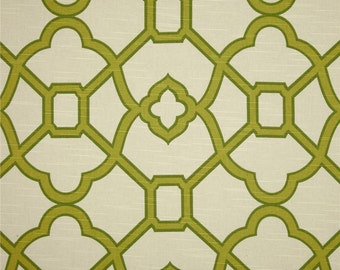 Two 20 x 20   Custom Curtain Pillow Covers  - Lattice - Pistachio Green