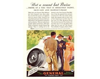 General and Young Couple  - 1930s Vintage Advertising - Digital Download