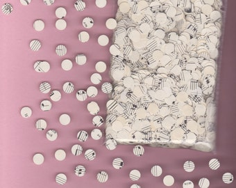 Circle confetti / table decoration hand made from vintage sheet music, approx 1000 pieces