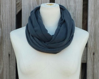 """SALE - PEPPER GRAY Infinity Scarf - The """"Petite"""" Caviar Gray Eternity Scarf - Kids Scarf Adult Scarf"""