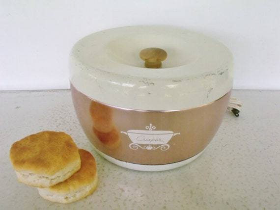 Electric Bun Warmer ~ Crisper electric bun warmer bread biscuit canister by ktsattic