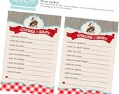 Vintage Cowboy Wishes For Baby Shower Printable INSTANT DOWNLOAD