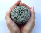 Cotton yarn, hand dyed yarn, slate, dark grey, double knit DK