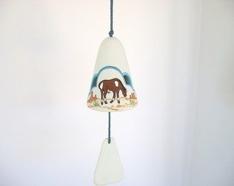 Windbell, ceramic windbell, Southwestern windbell, horse windbell
