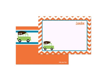 SURFER PARTY-Printable Thank You Notes-CHEVRON