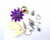 Lot pendants charms assortment salvaged lot recycle reuse 10 pieces lot 998