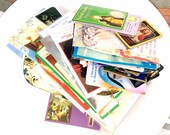 lot religious paper prayers images cards saint  decoupage craft supplies