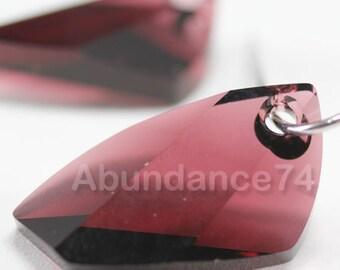 2 pcs Swarovski Crystal 6620 20mm Avante GardePendant - BURGUNDY