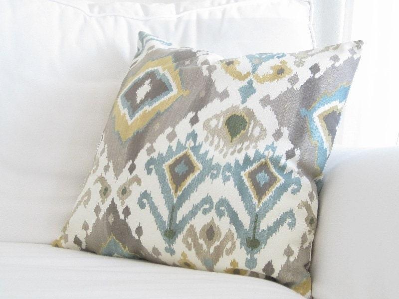Throw Pillows For Grey Sofa : Throw Pillows Decorative PillowsIkat Couch Pillows Grey