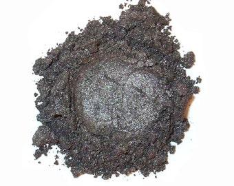 Mineral Eye Shadow RAINY DAY GREY - 3 Grams or 5 Grams- Deep Grey Shimmer & Shine