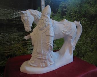 Old World Santa,Italian Santa with Horse,Christmas Decoration,Vintage santa,collectible santa,ready to paint, ceramic bisque, u-paint