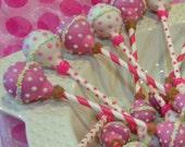 BABY GIRL RATTLE Cake Pops, Newborn Cake Pops, Baby Shower Cake Pops