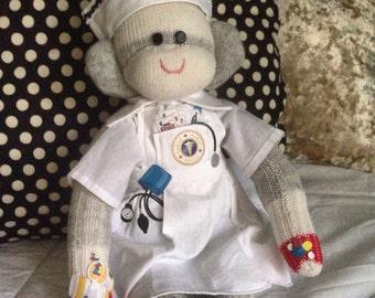 Nurse Sock Monkey