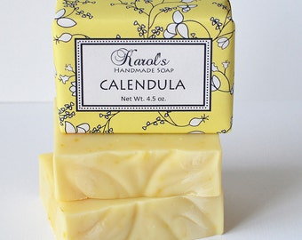 Calendula Soap ~ All Natural Soap, Handmade Soap, Unscented Soap, Olive Oil Soap, Vegan Soap, Baby Soap
