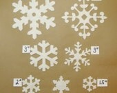 Snowflakes, Wool Felt Blend Die Cuts- Choose a size and style